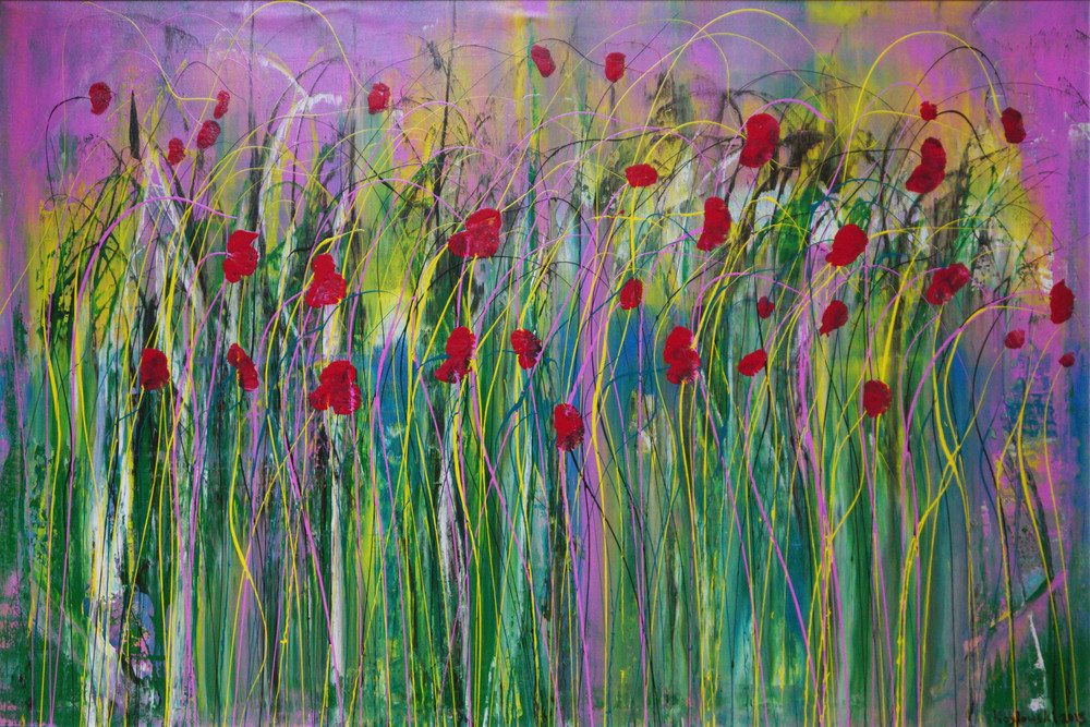Poppies in the Wind II Image