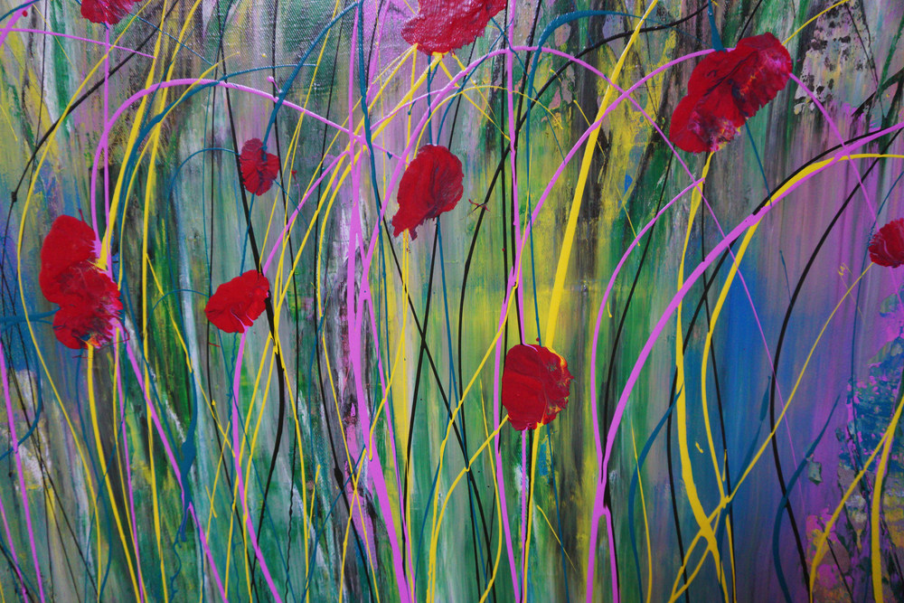 Poppies in the Wind II Detail 2