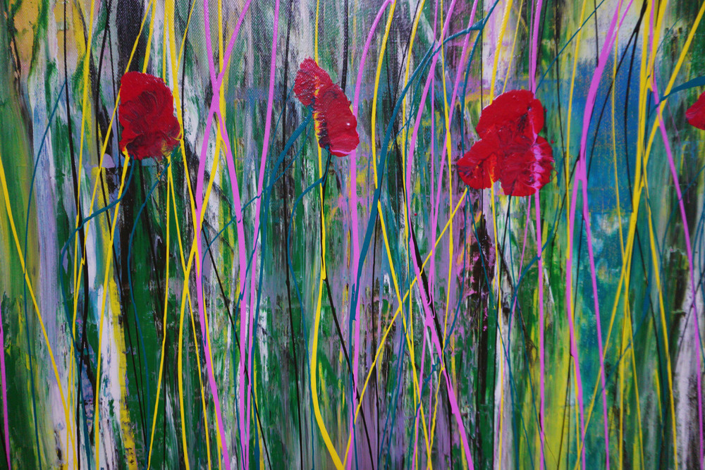 Poppies in the Wind II Detail 1