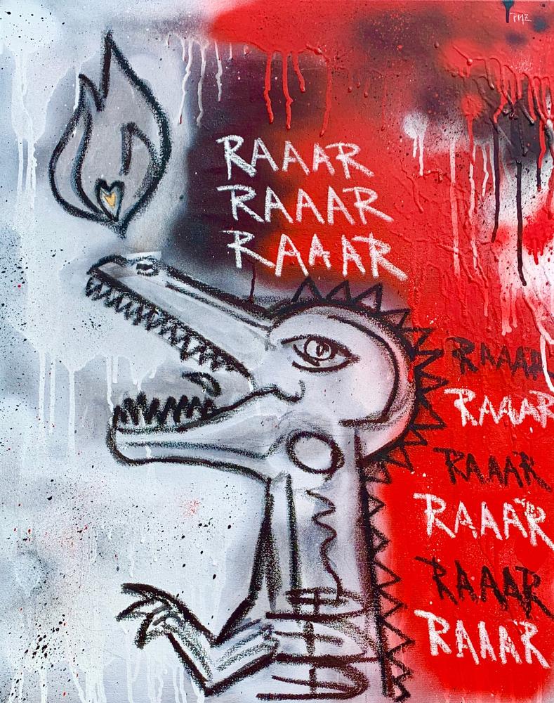 RaaaR Pop Painting Artist Paul Zepeda
