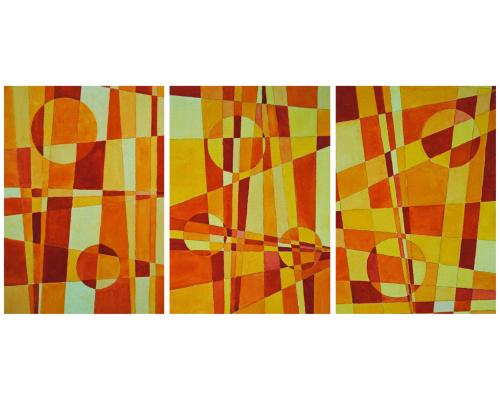 Triptych   Yellows, Oranges and Reds