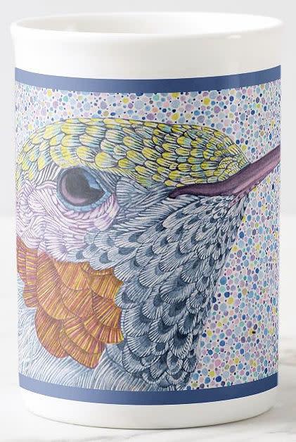 hummingbird head blue