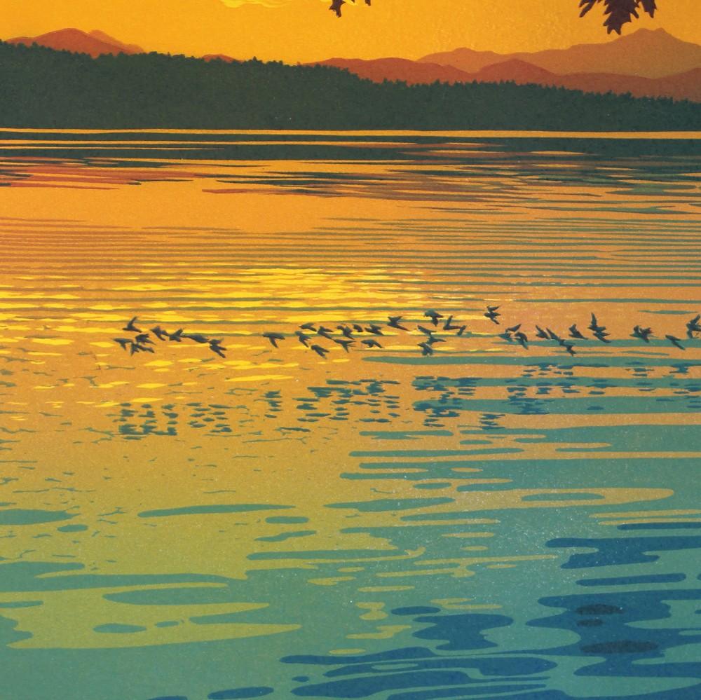 Skimming The Sunset Detail 1