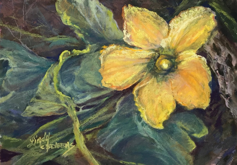 Sunbaked Desert Gift 5x7 pastel Lindy Cook Severns