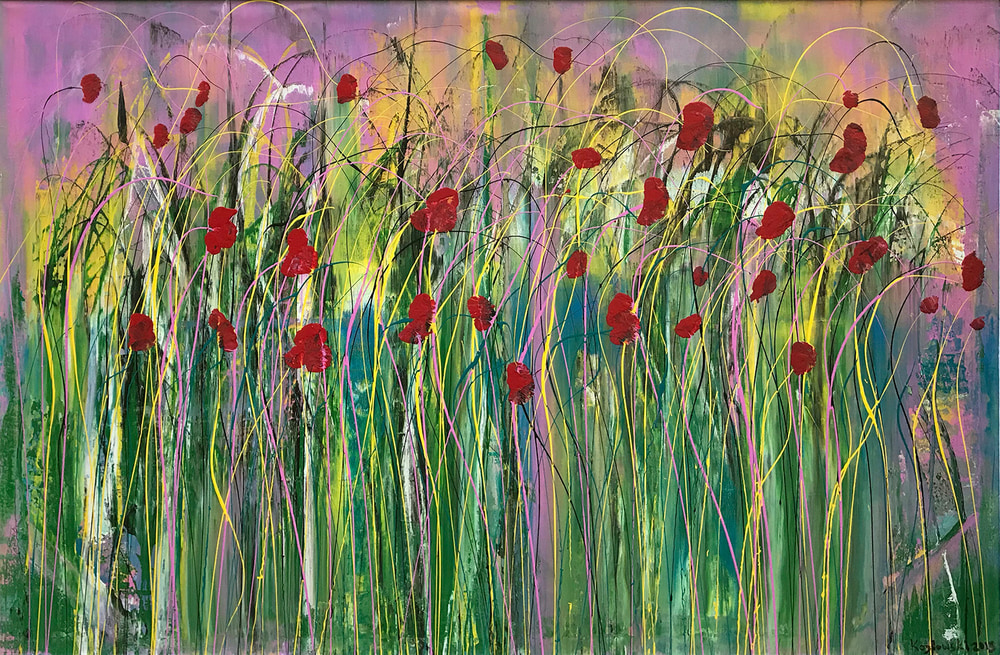 Poppies in the Wind II  NEW PIC NOT FRAMED