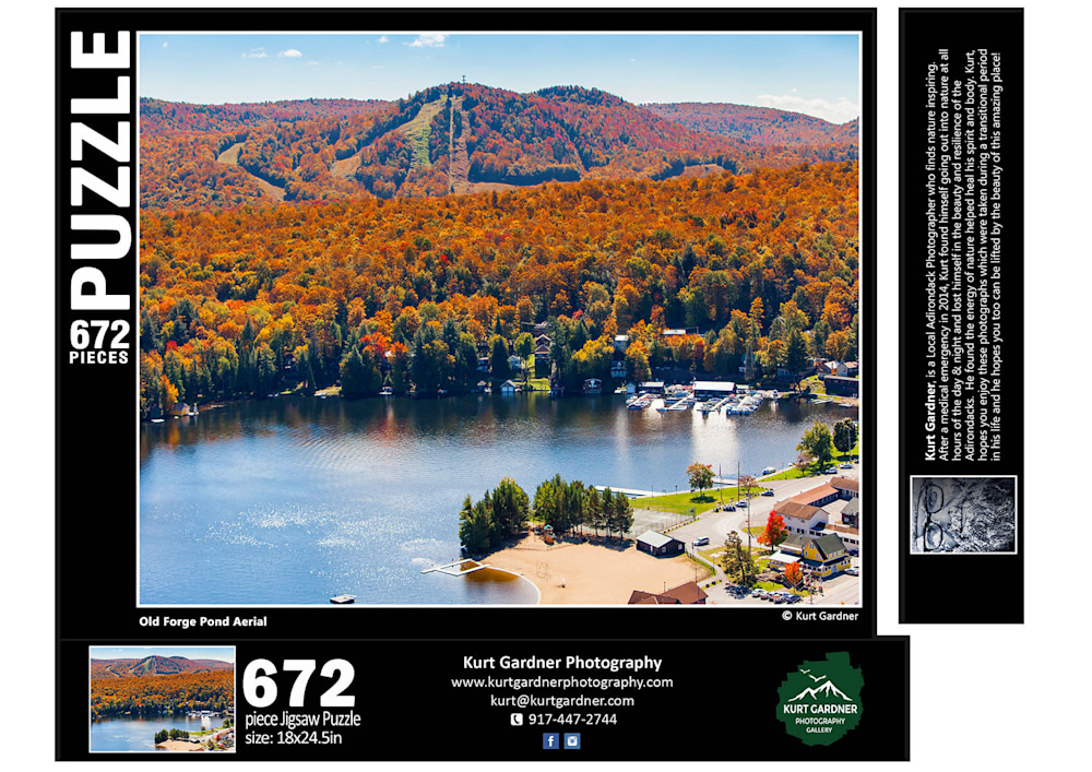 G38 Aerial Old Forge Pond Puzzle 672 FLAT1