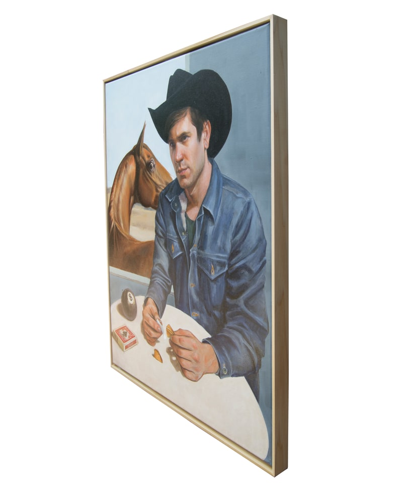 cowboy reads his fortune left side