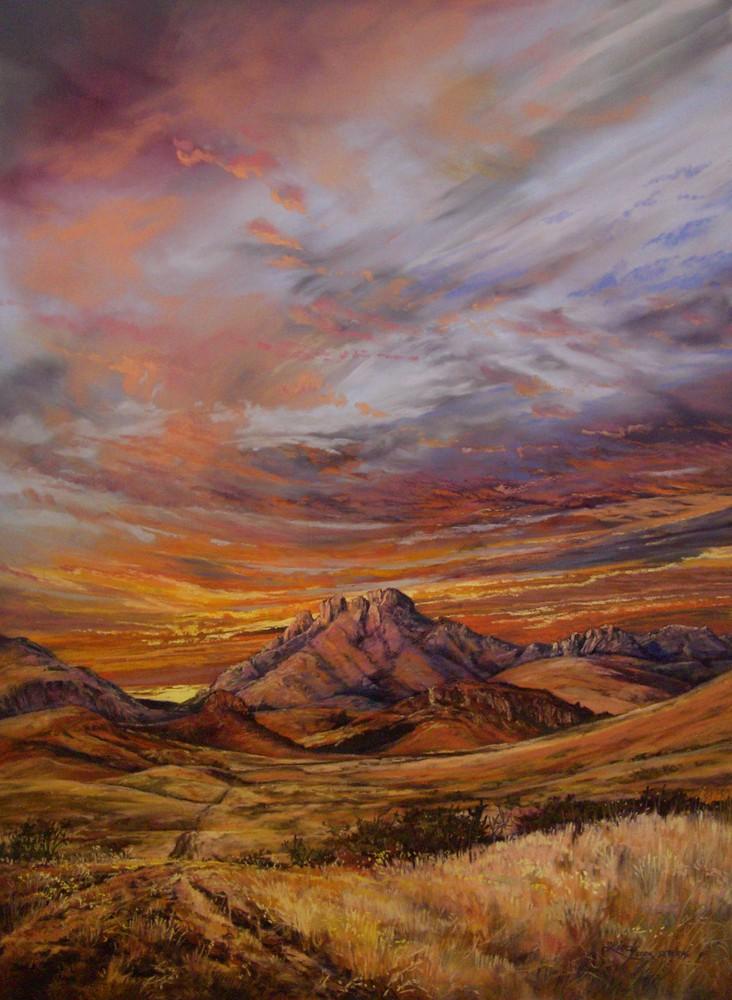 Road to Sundown 38x22 pastel 2009