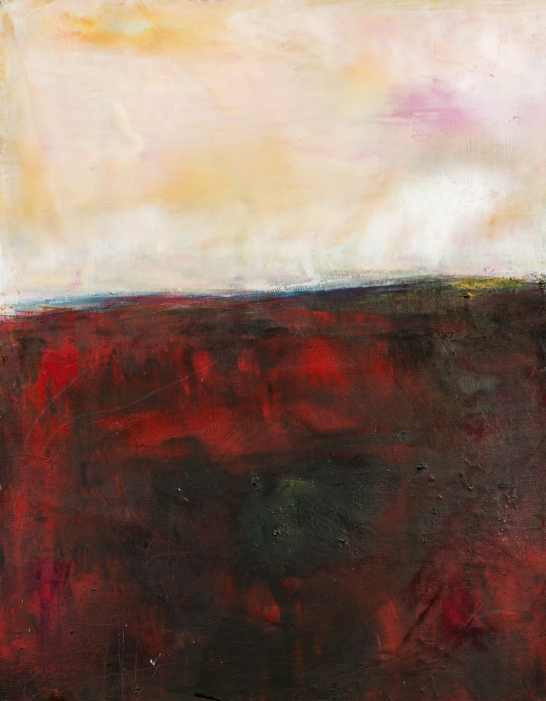 'The Walk home' 1 of 2 , Eadaoin Glynn 2019, oil, cold wax, mixed media on canvas   45