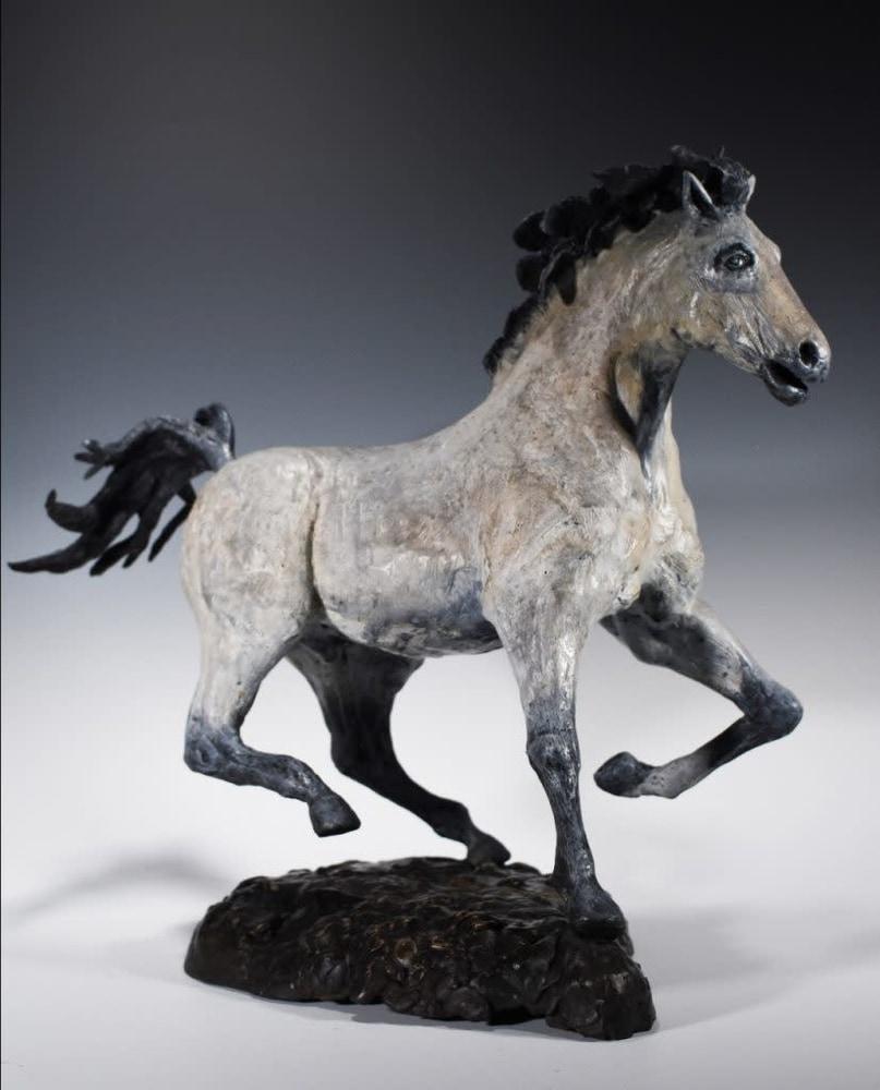 El Moro - Cast Bronze Sculpture of a Horse by Eduardo Gomez