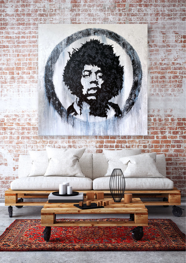 Mr. Jimi - Original Acrylic Painting, Featured