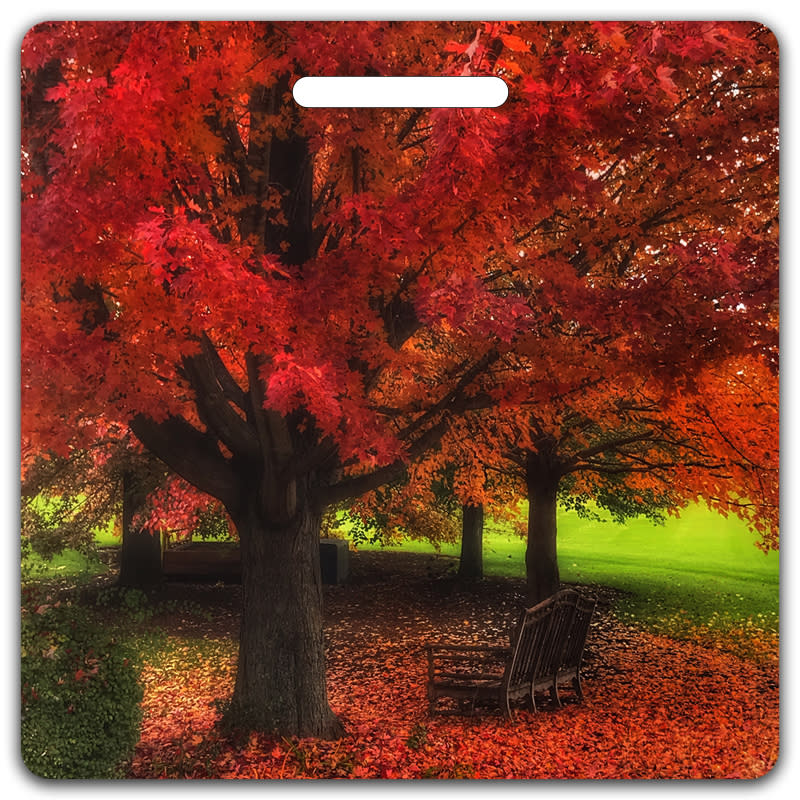 Red Autumn Bag Tag