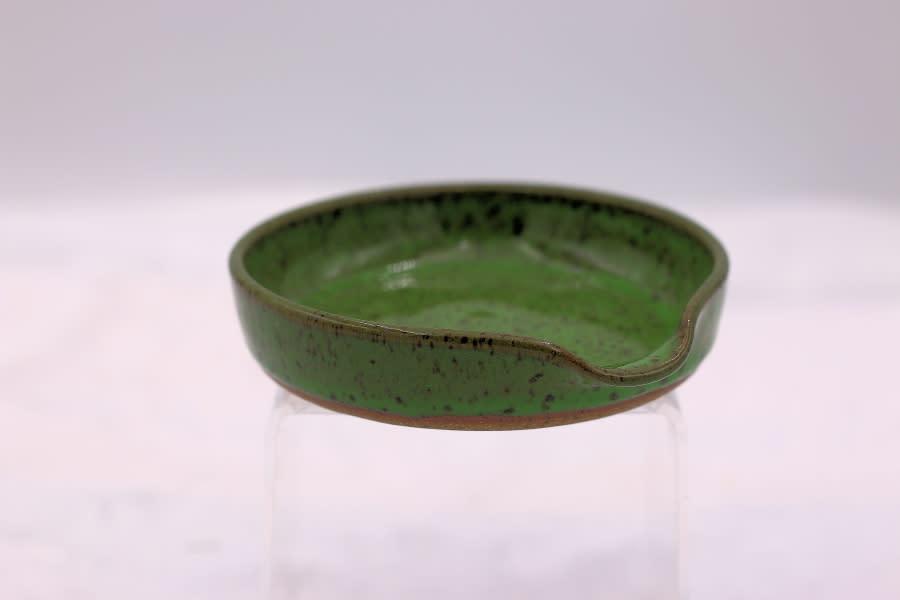 Anne Chaney Bright Green Spoon Rest 1 1