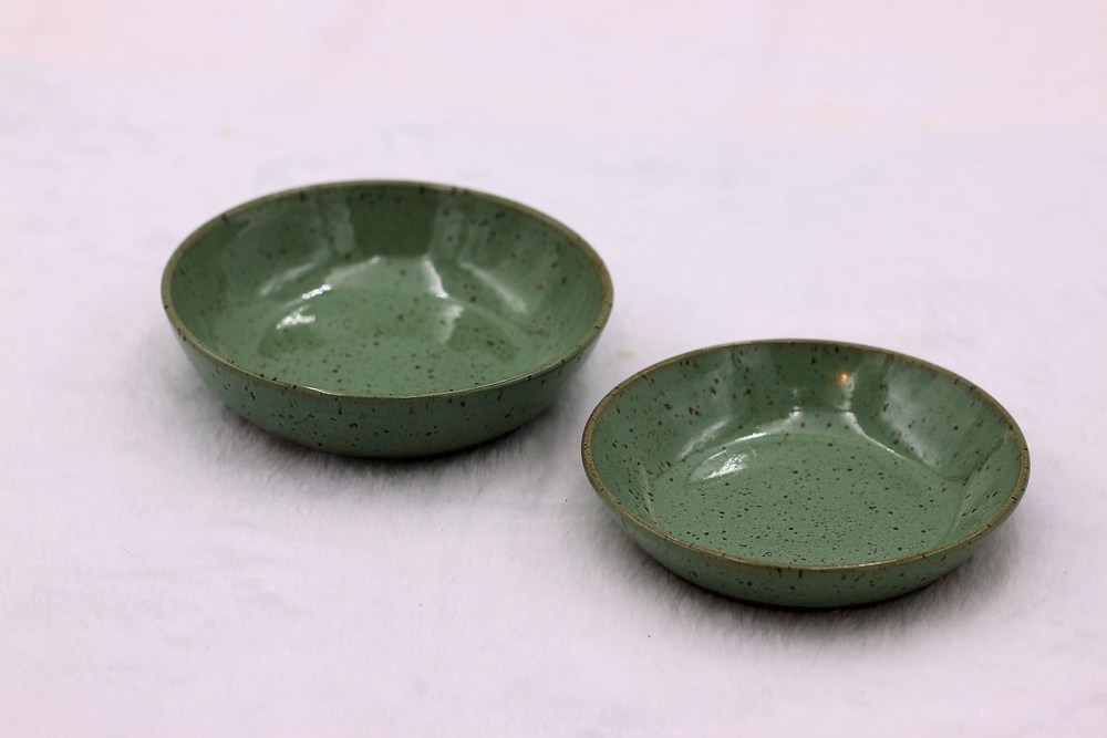 Anne Chaney Light Green Small Bowls Set