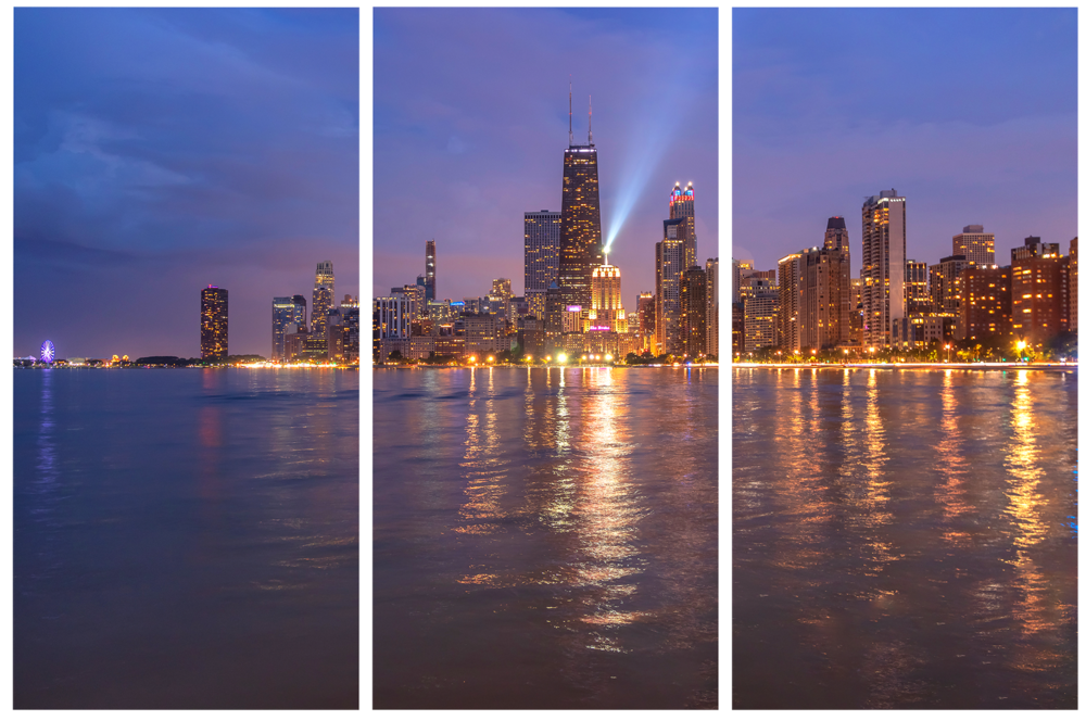 North Avenue Beach View of the Chicago Skyline