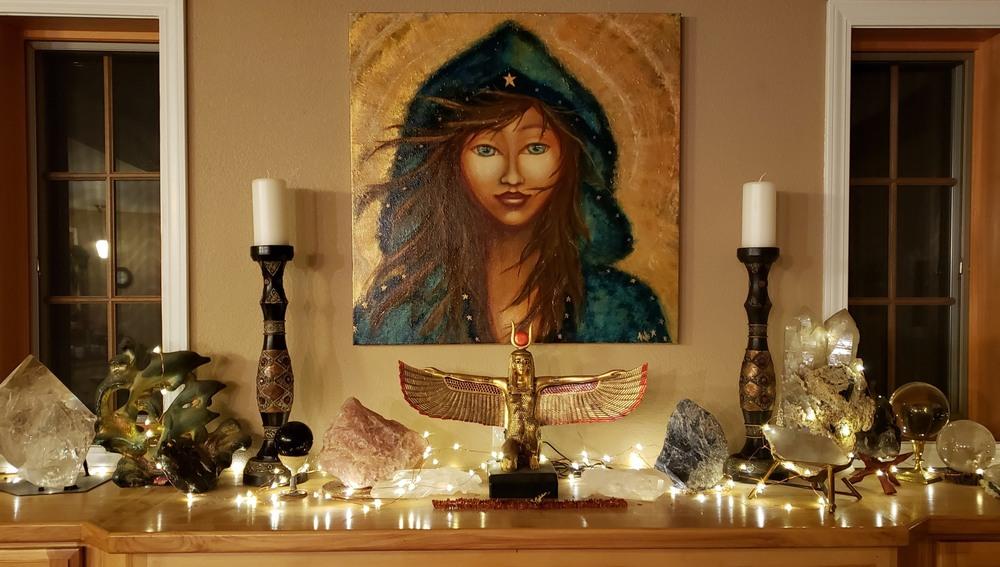 Magdalen on Altar