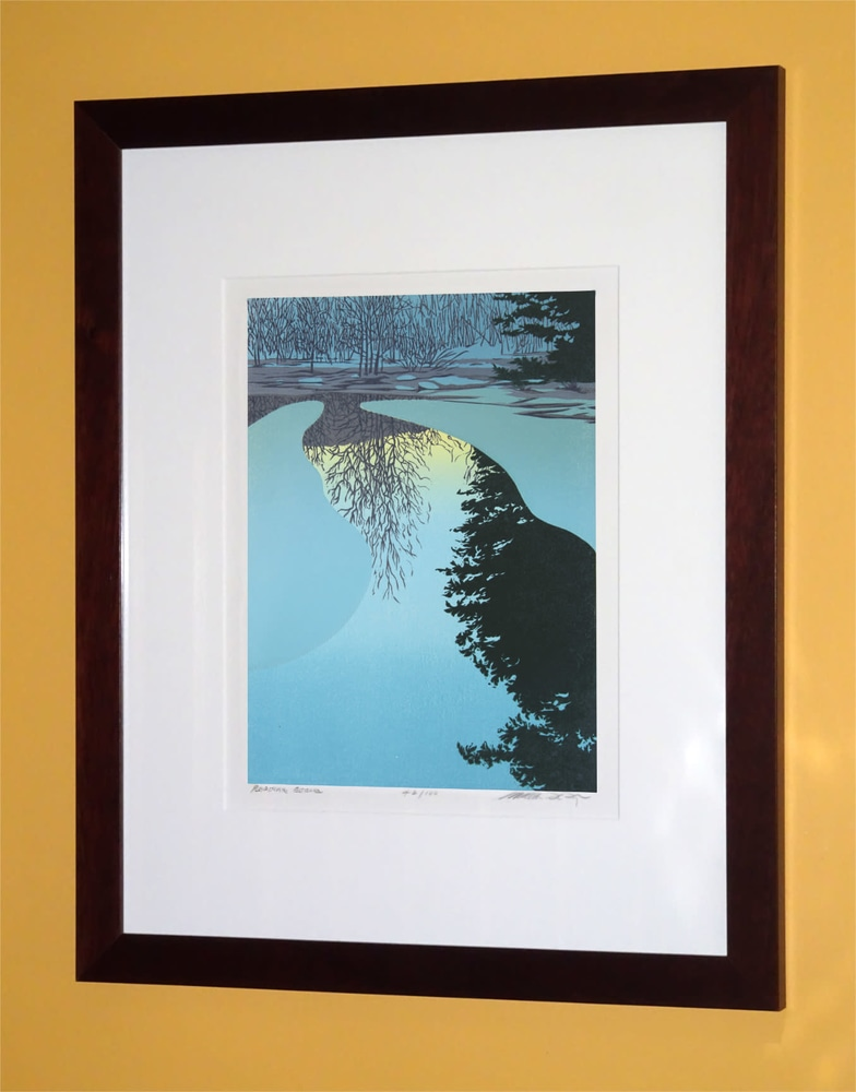 Ice Dawn Framed