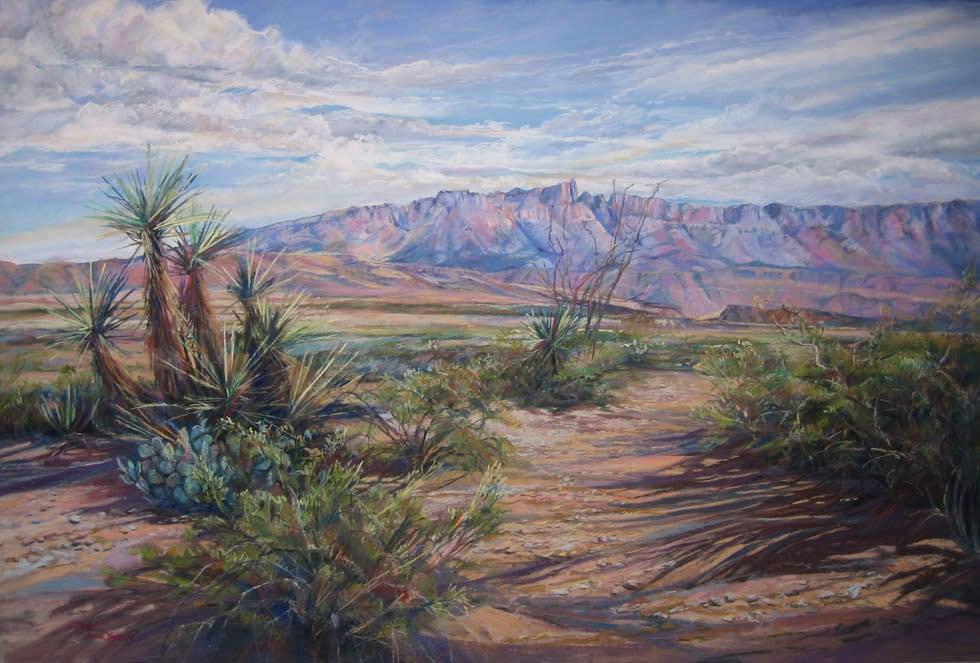Sierra del Carmen Sky 24x36 pastel Lindy C Severns 980x