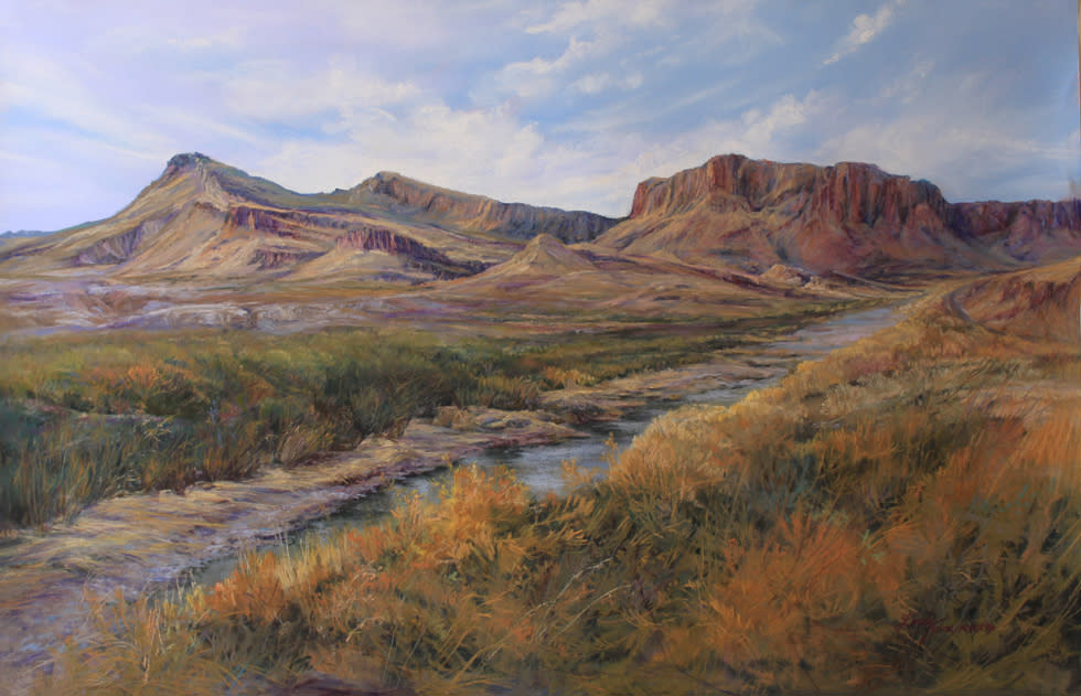 The River Road 16x24 pastel Lindy C Severns 980x