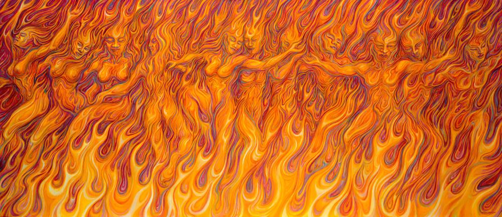 FLAMES giclee