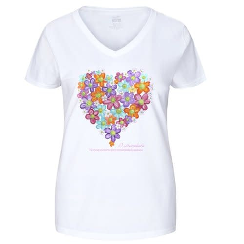 Fruit of the Loom Ladies' Heavy Cotton HD V Neck T Shirt   Smaller Size