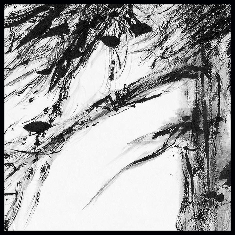 hombretheartist sumie pinetree 6 original art detail 073120