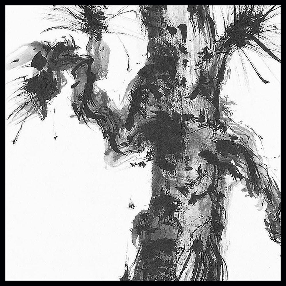 hombretheartist sumie pinetree 7 original art details 073120