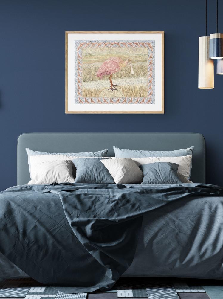 spoonbill dark industrial loft bedroom 1