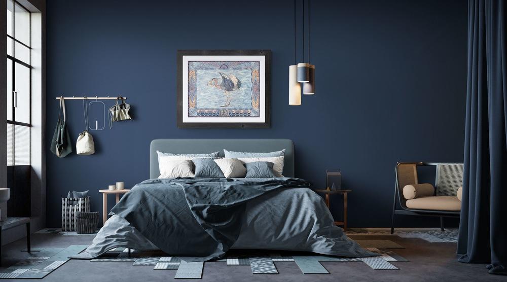 heron withfirsh industrial loft bedroom