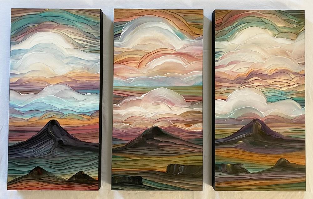Dreamy Triptych A   Original