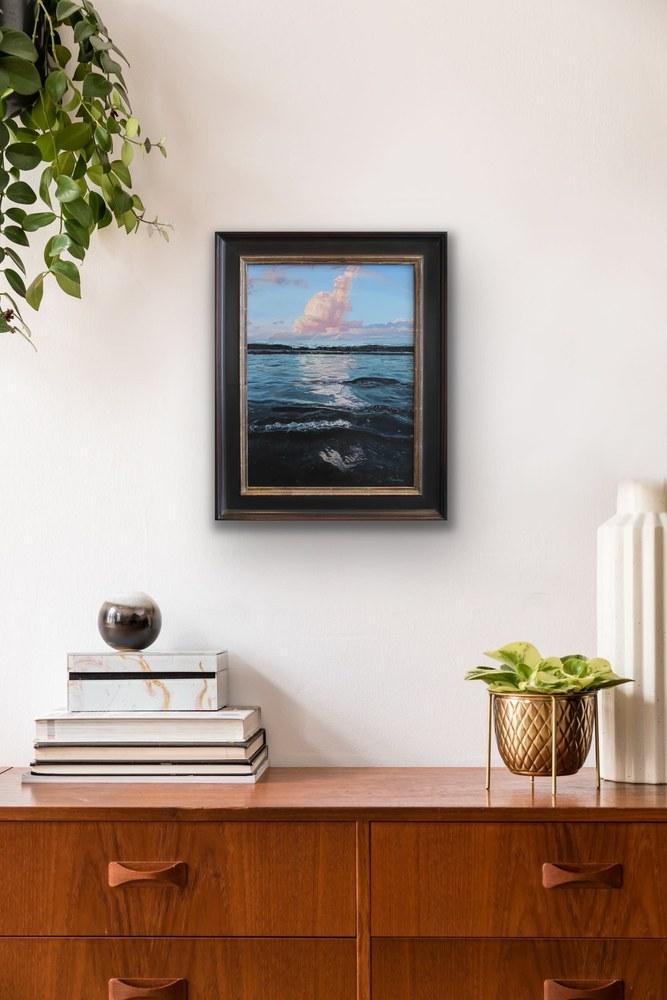 Carina Francioso   Remembrance Maui Original Oil Framed Painting Contemporary Ocean Cloud Sky Hawaii Evo Art Maui Gallery Kammy Robert Burrer Hodges 4