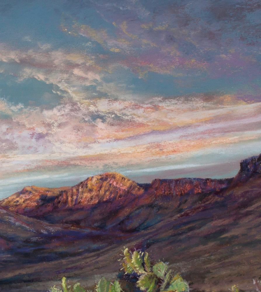 25j17 Beginnings 11x14 pastel Lindy C Severns detail sky