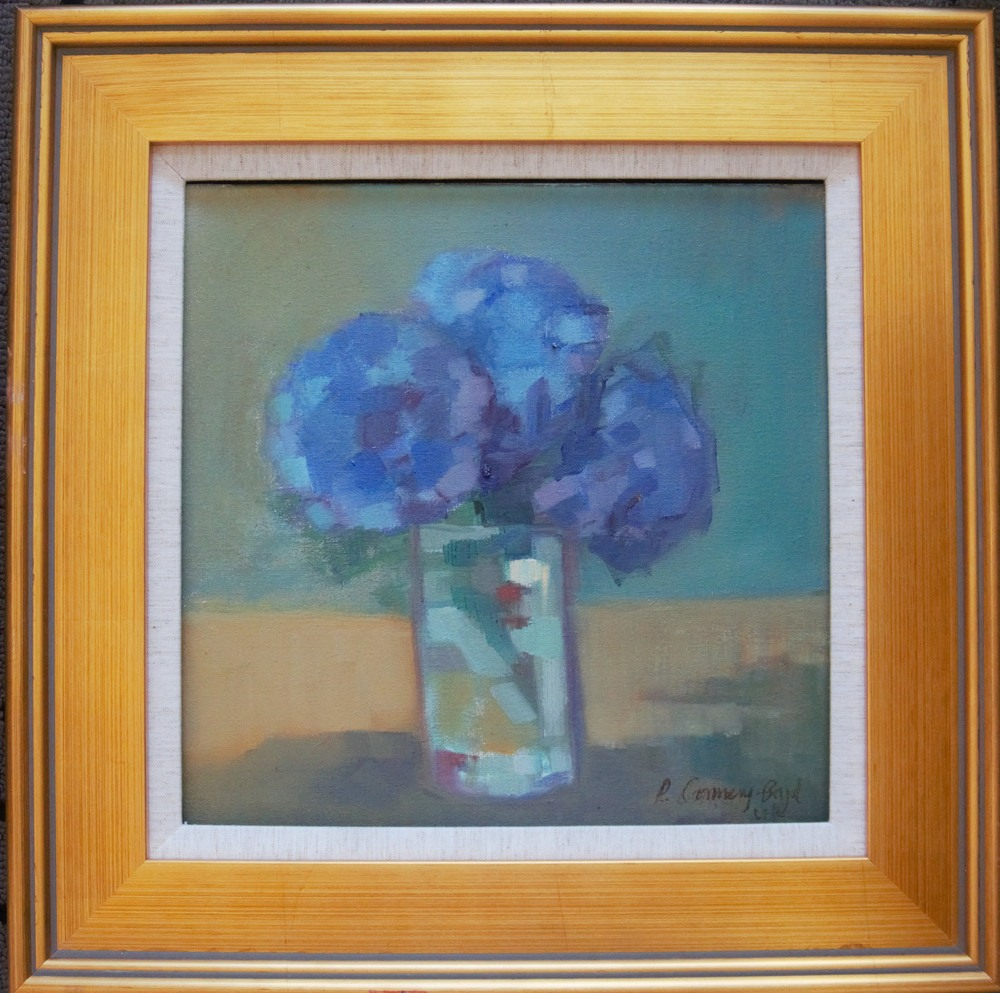 Connery Boyd Soothing Summer Blues in Gold Frame