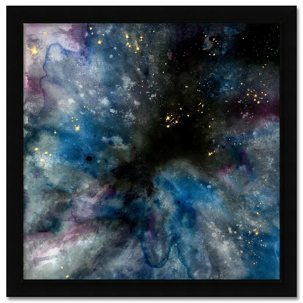 dyed cosmosity framed