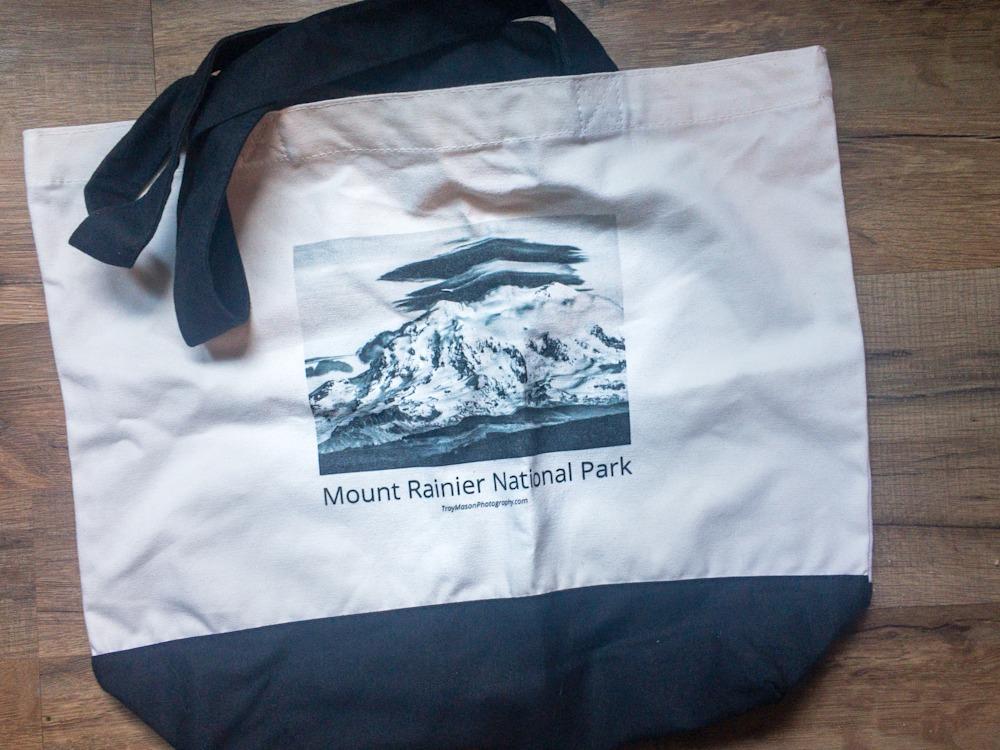 Mount Rainier Canvas Tote