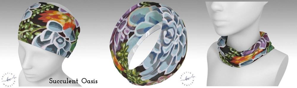 Succulent Oasis headband photos