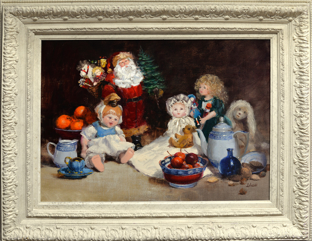 Christmas Dolls Original Framed D610