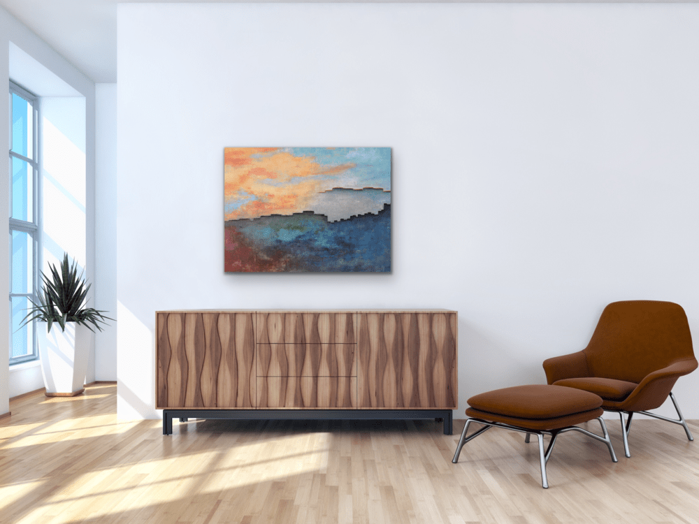 Reminiscing as the Future Unfolds over credenza