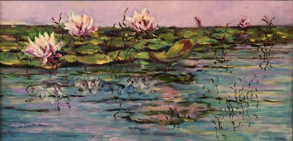 water lilys unframed