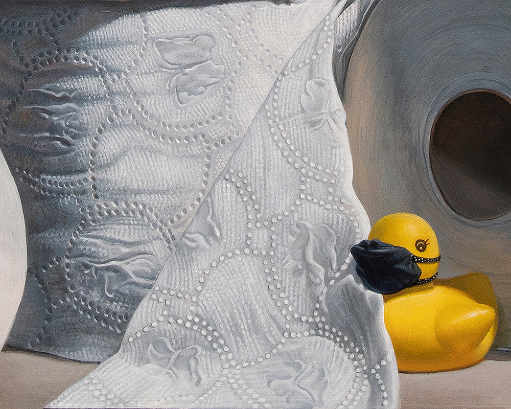 Kevin Grass What the Duck Detail 2 Acrylic on aluminum panel painting