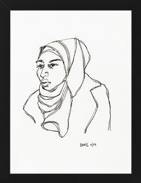 HijabWomanFramed