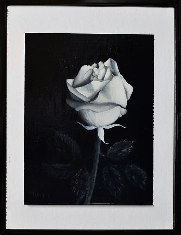 B W Rose Original Framed D610