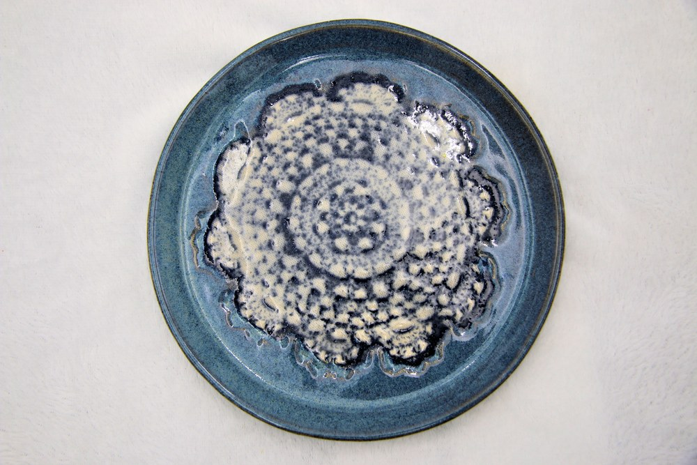 Anne Chaney Blue Plate Doily Design