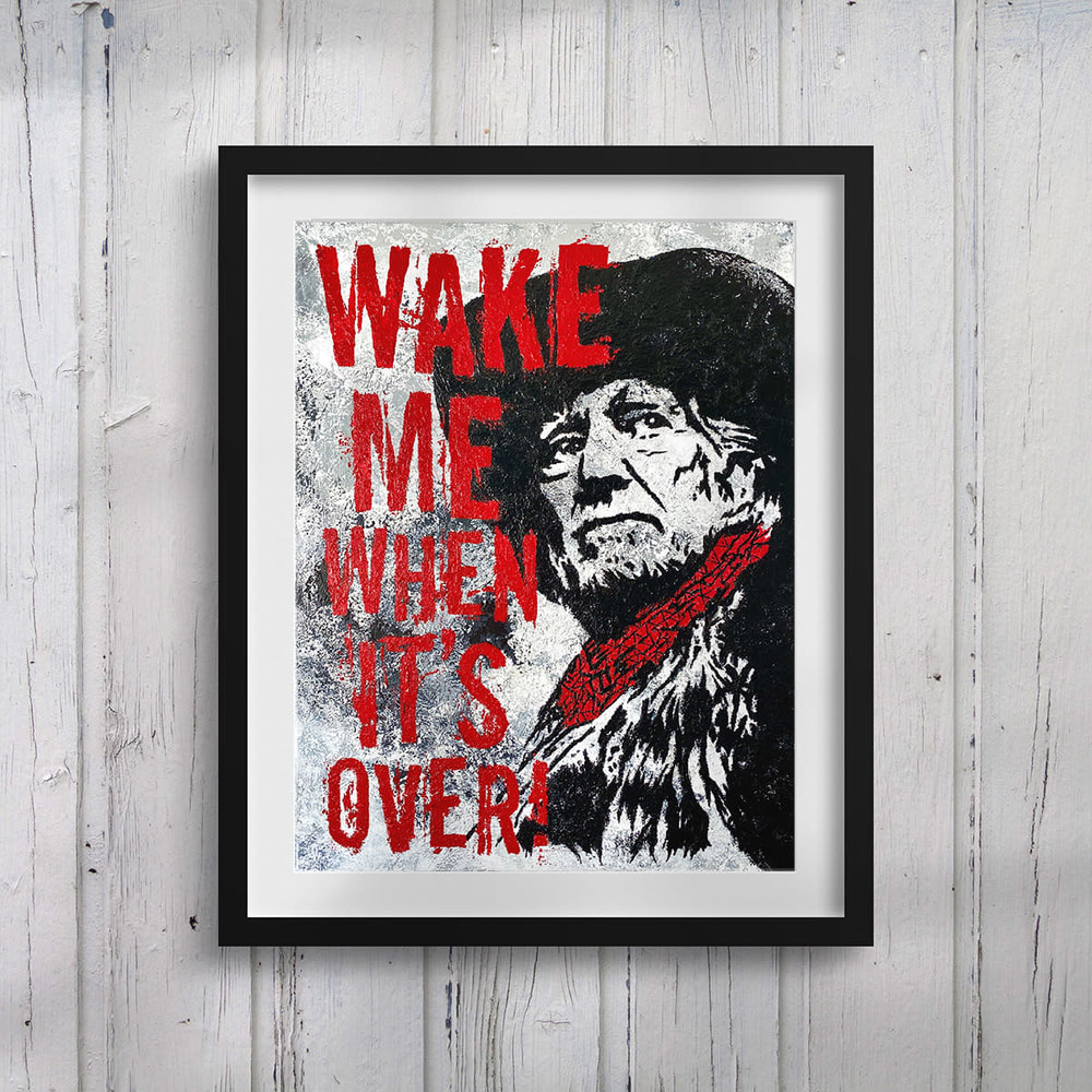 """Willie Nelson - """"Wake Me When It's Over"""" Framed Print Lifestyle"""