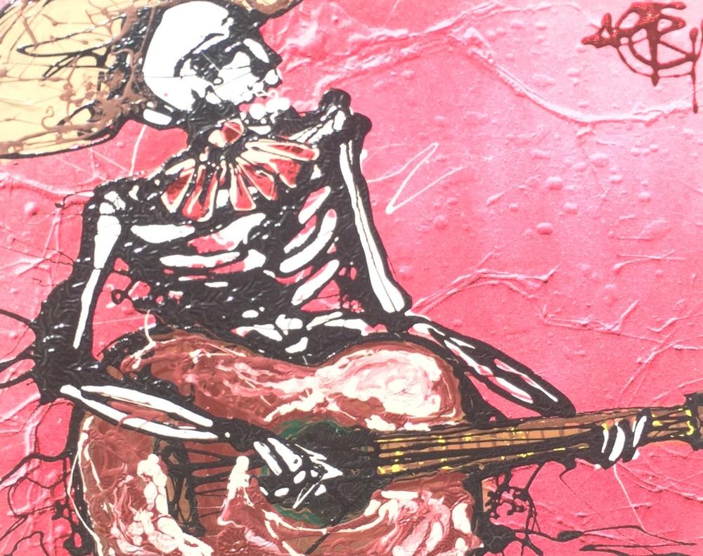 Mariachi de Muerto 11x14  $245