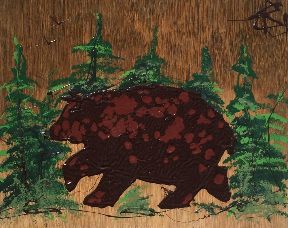 bear Crossing 11x14   $185