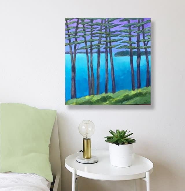 room purple pines Ebay 2