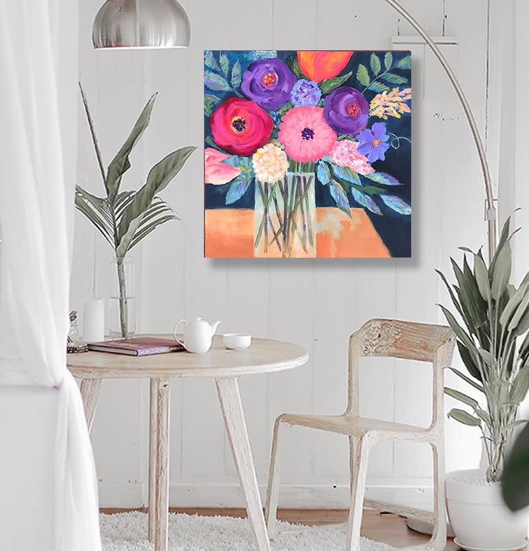room bright flowers Ebay