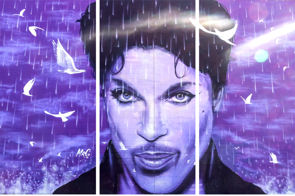 Prince Mural at the Chanhassen Cinema