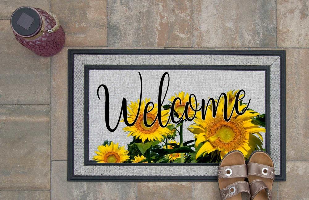 Sunflowers Welcome Mat